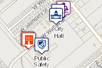 City Services interactive map