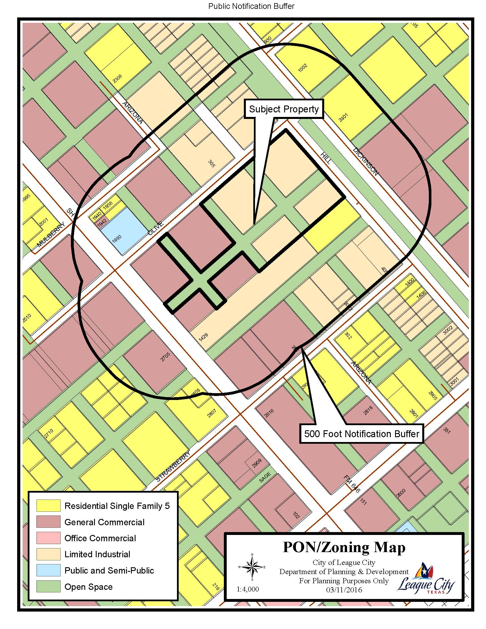 Z15-20 (Highway 3 & Olive) Zoning Map