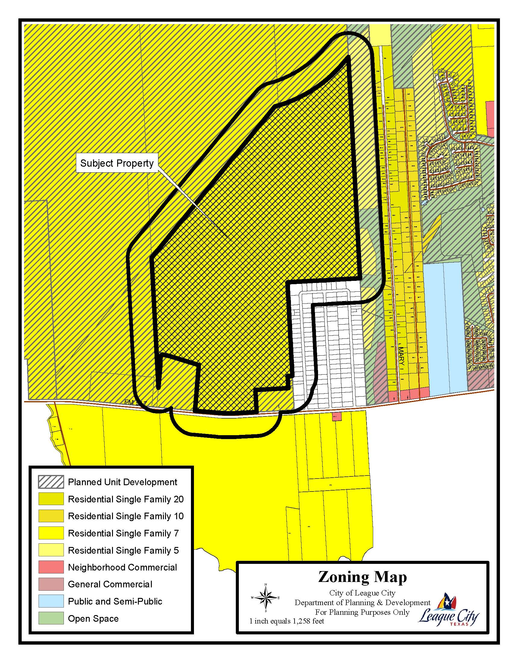 SUP16-02 (Duncan Sand Pit) zoning map