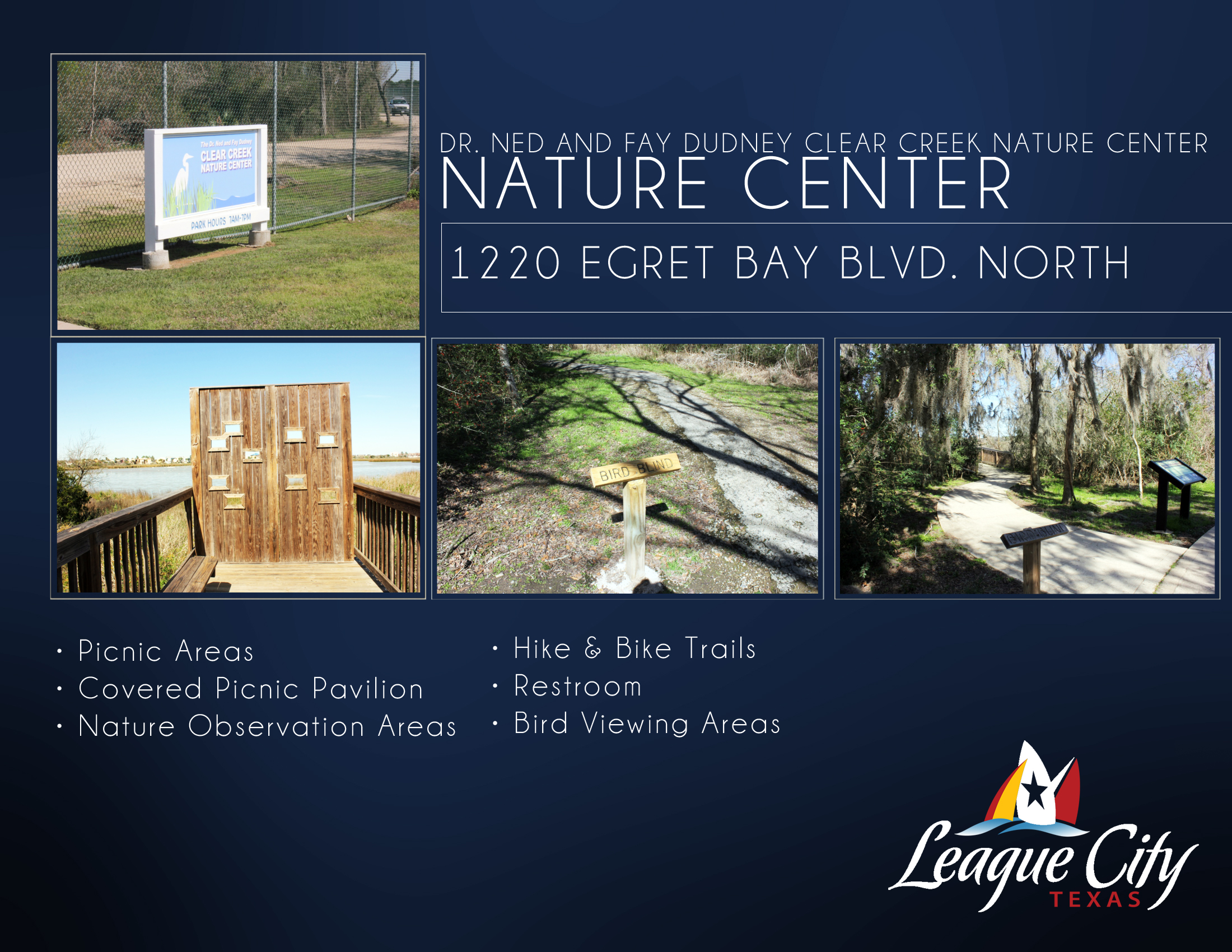 Dr. Ned and Fay Dudney Clear Creek Nature Center Flyer