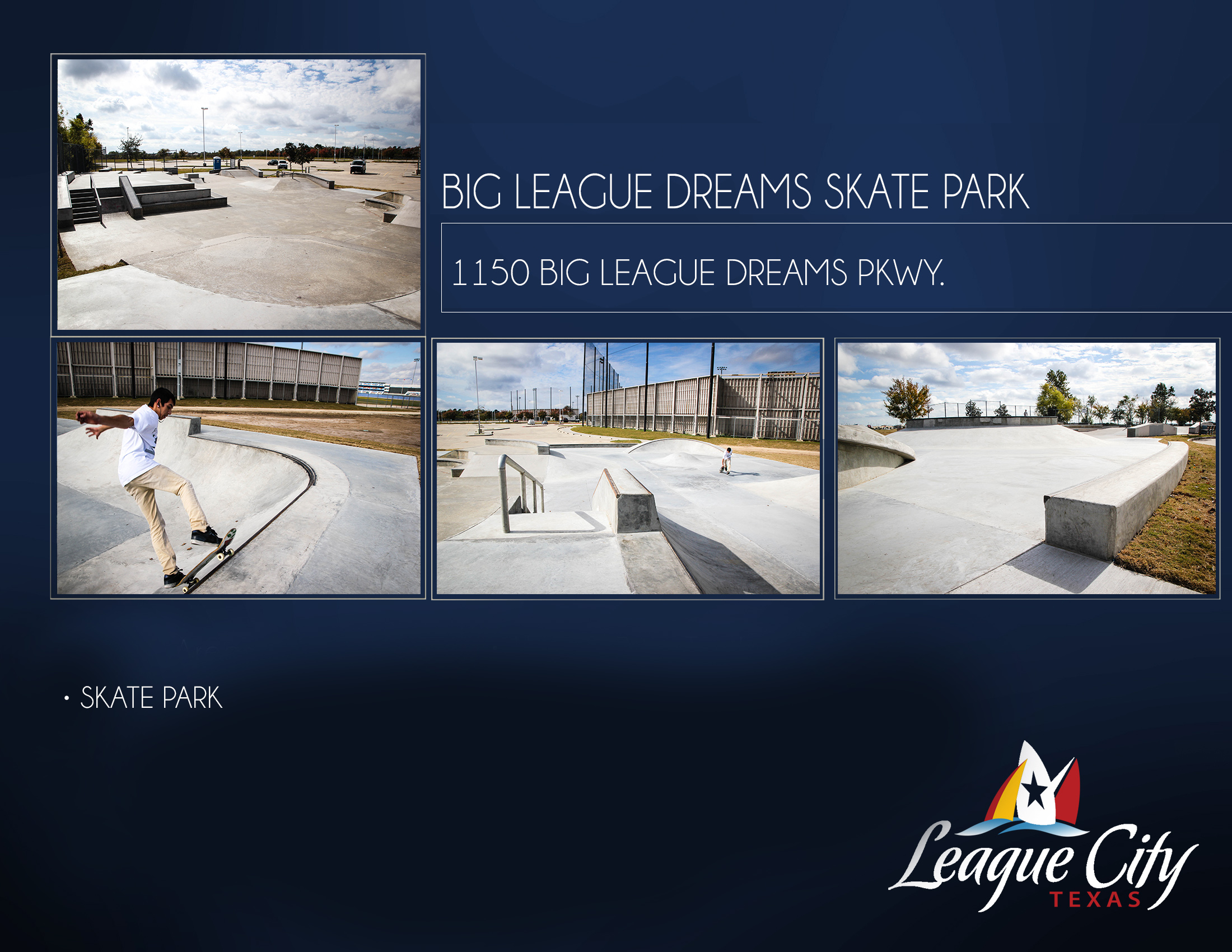 Big League Dreams Skate Park Flyer