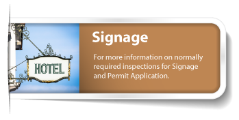Signage permit page