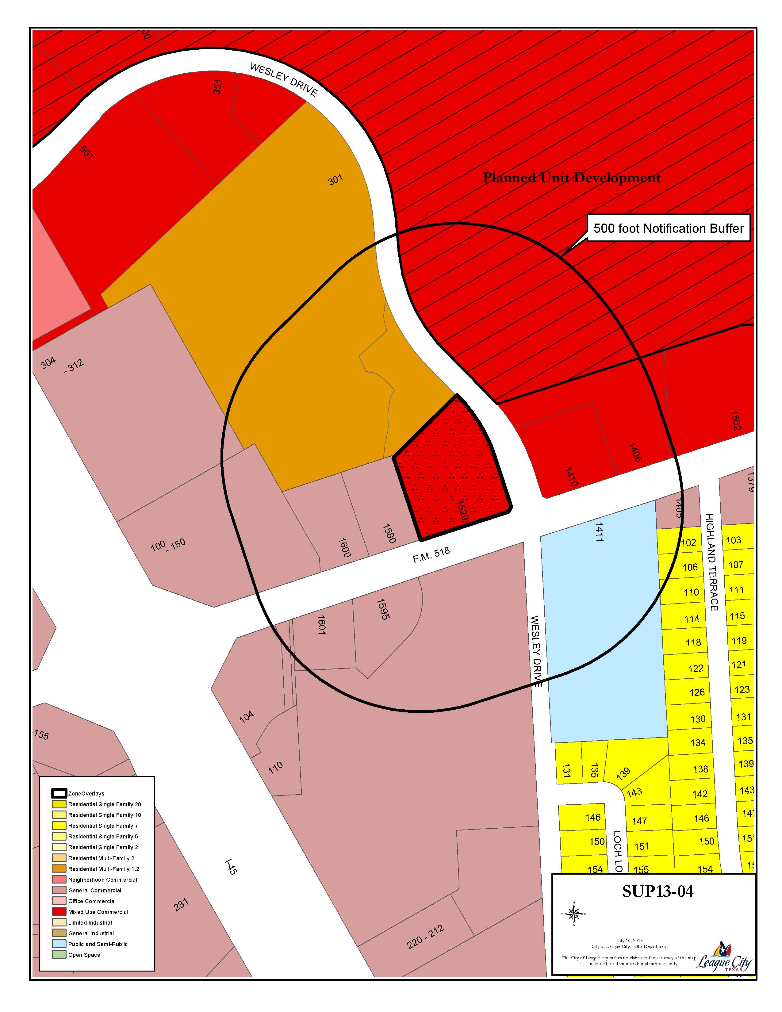 SUP13-04 Zoning Map