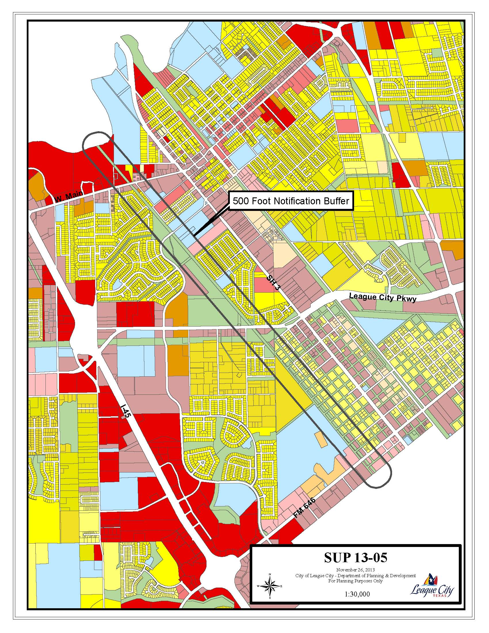 SUP13-05 Zoning Map