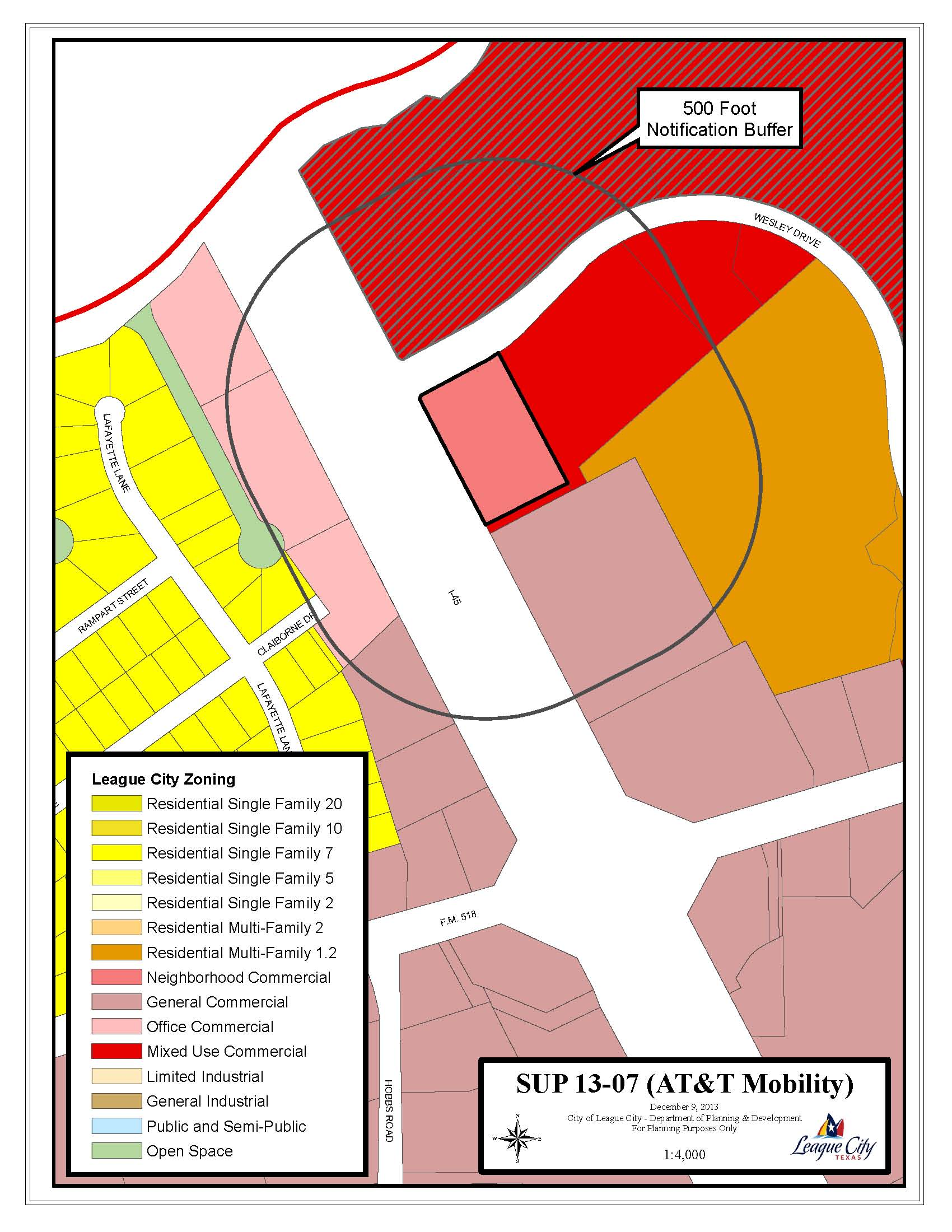 Z13-06 - SUP13-07 Zoning map