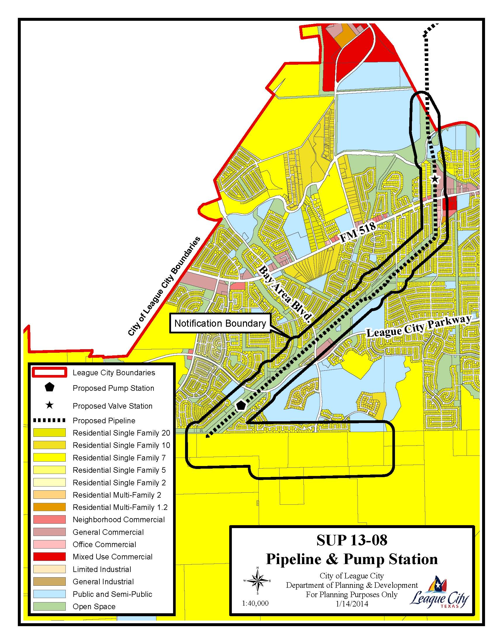 SUP13-08 Zoning Map