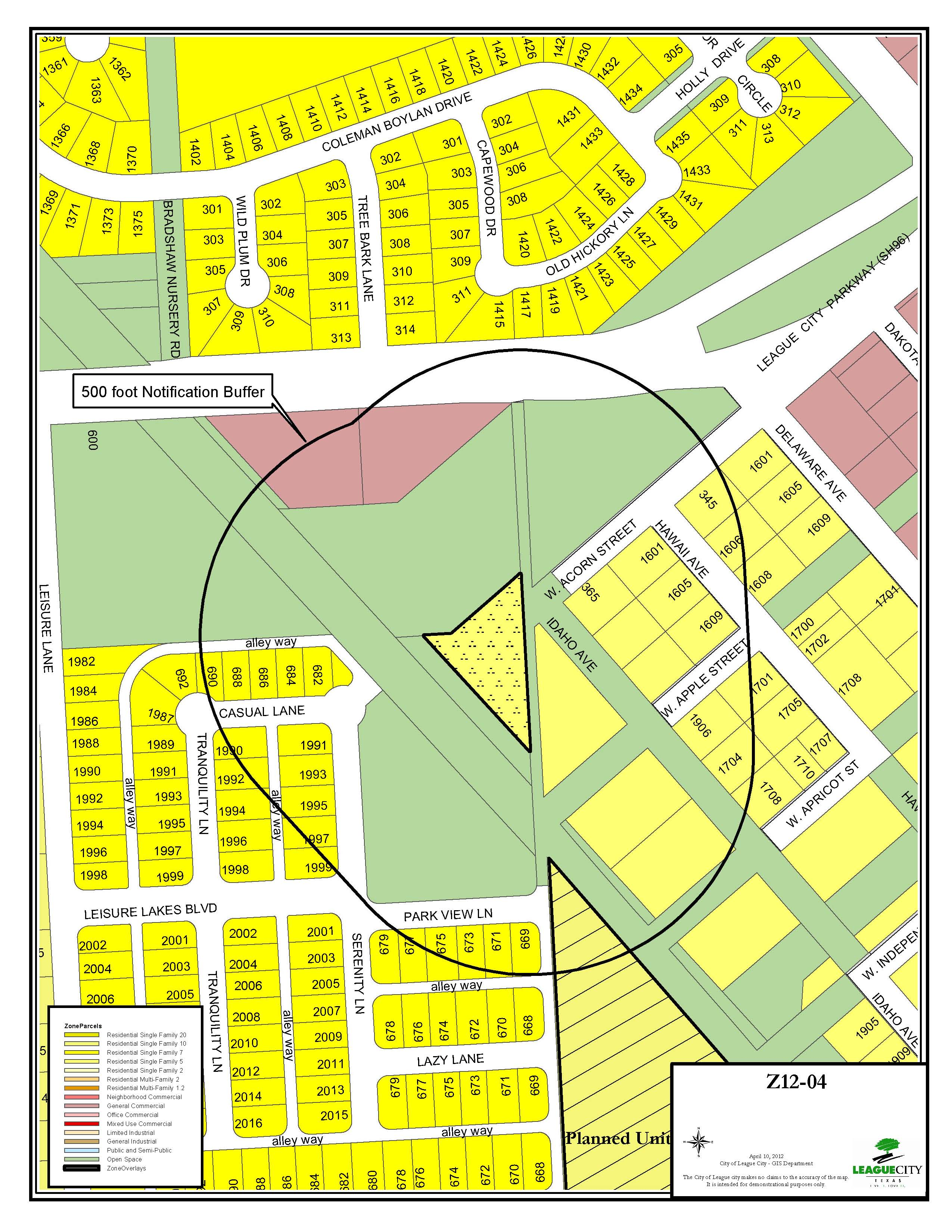Z12-04 (Lucas) zoning map