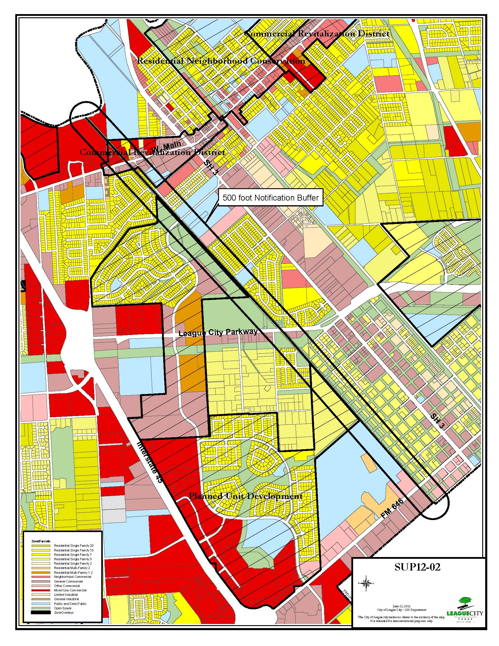 SUP12-02 (Genesis Pipeline) zoning map