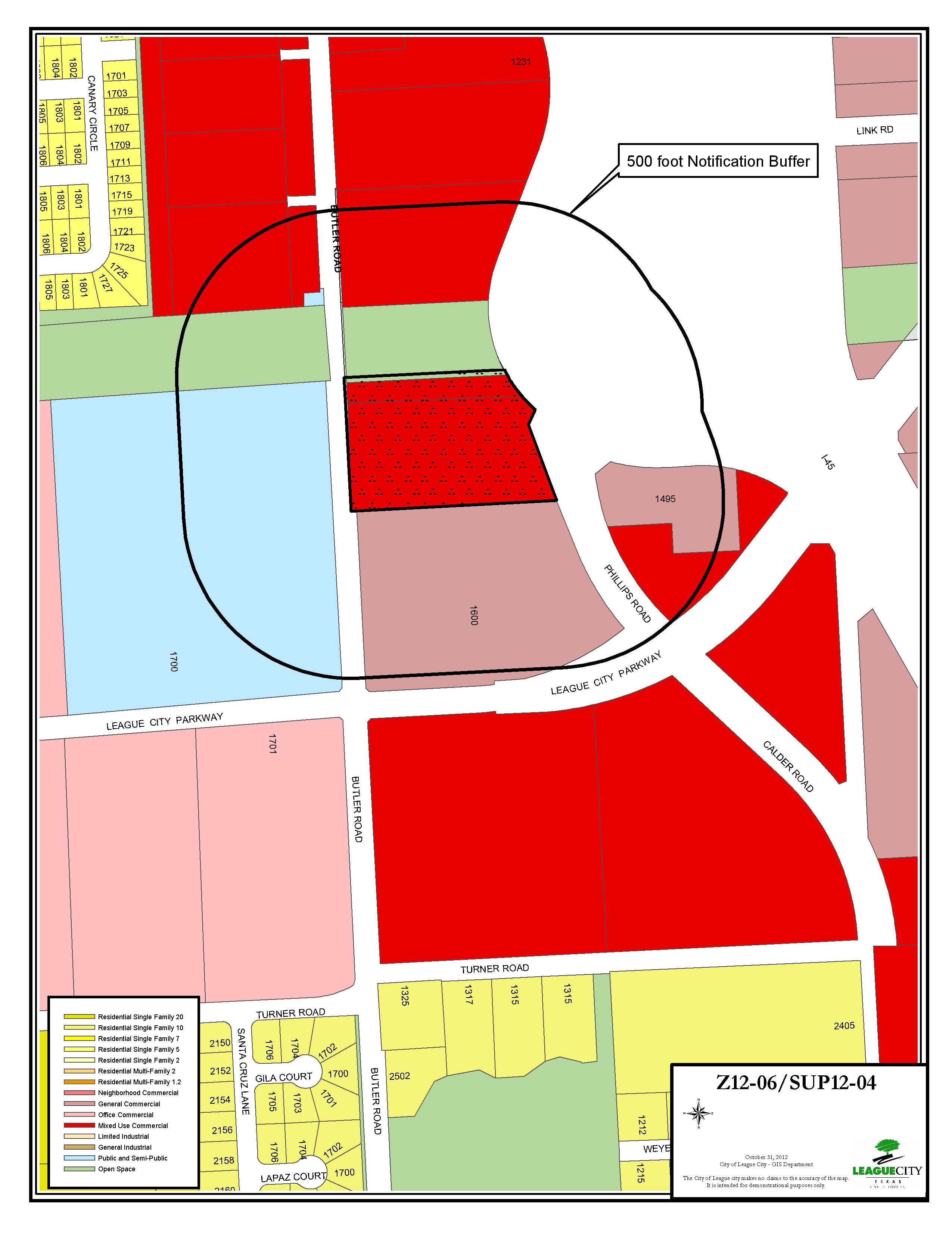Z12-06 SUP12-04 zoning map