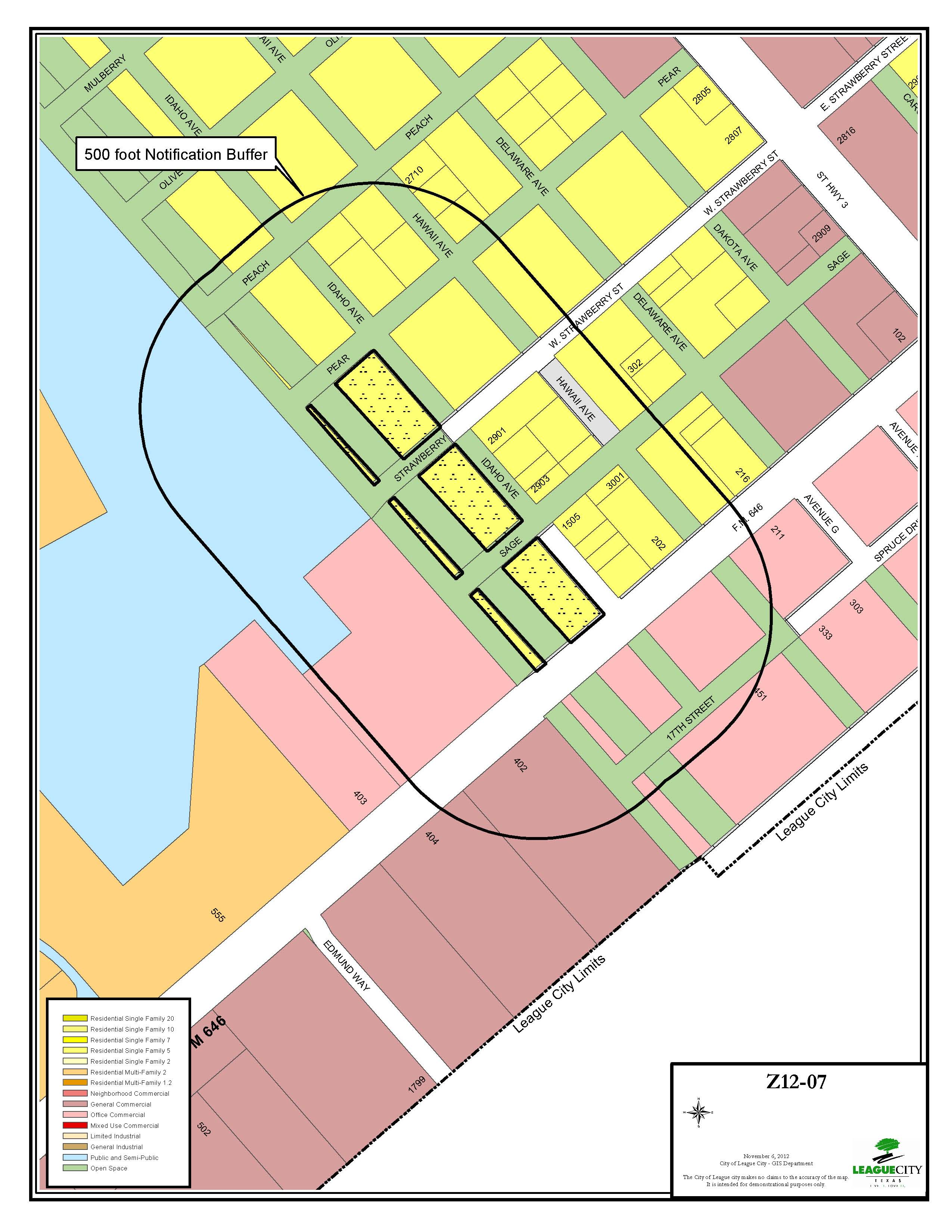 Z12-07 (Thomas) Zoning Map