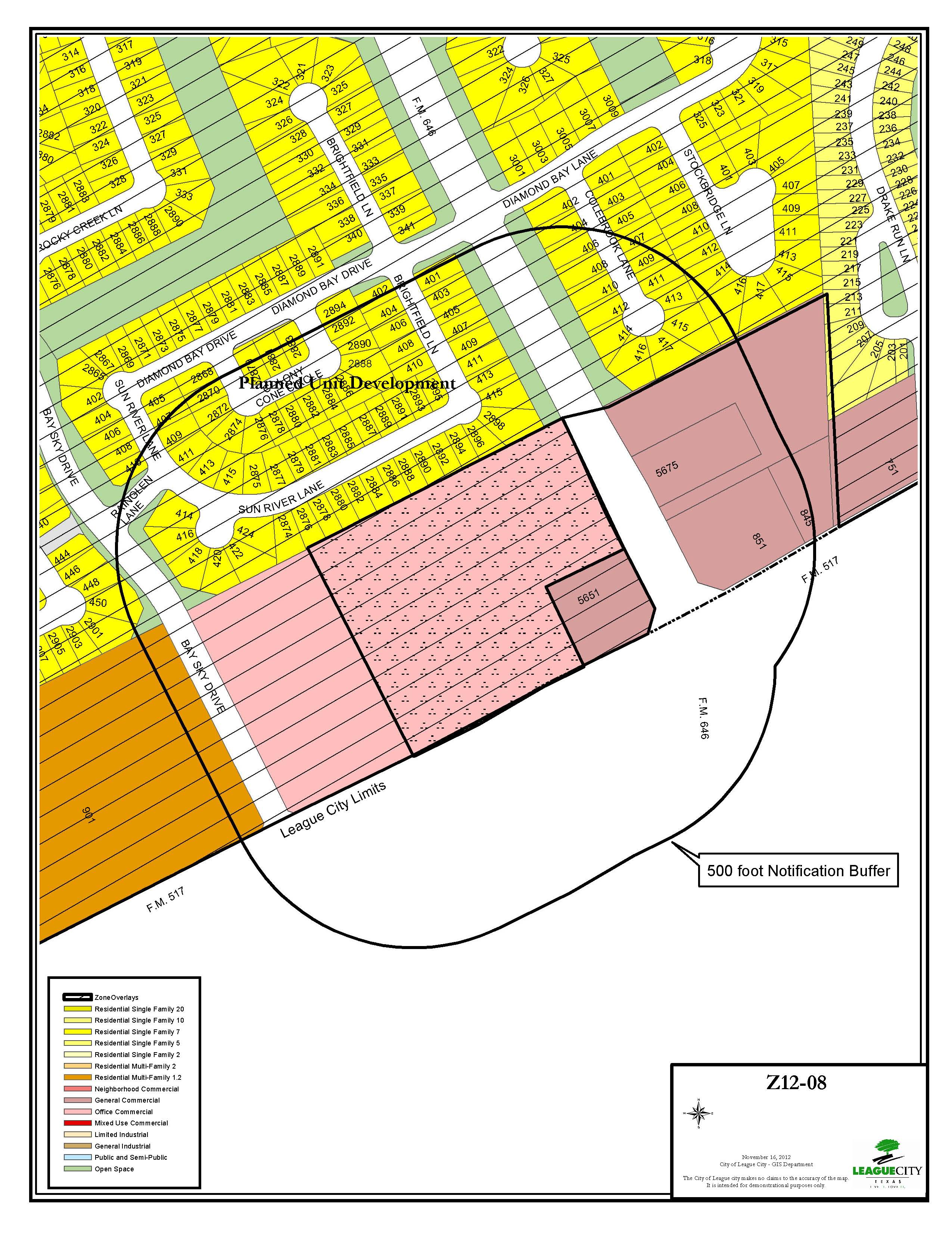 Z12-08 (High Point Storage) Zoning Map