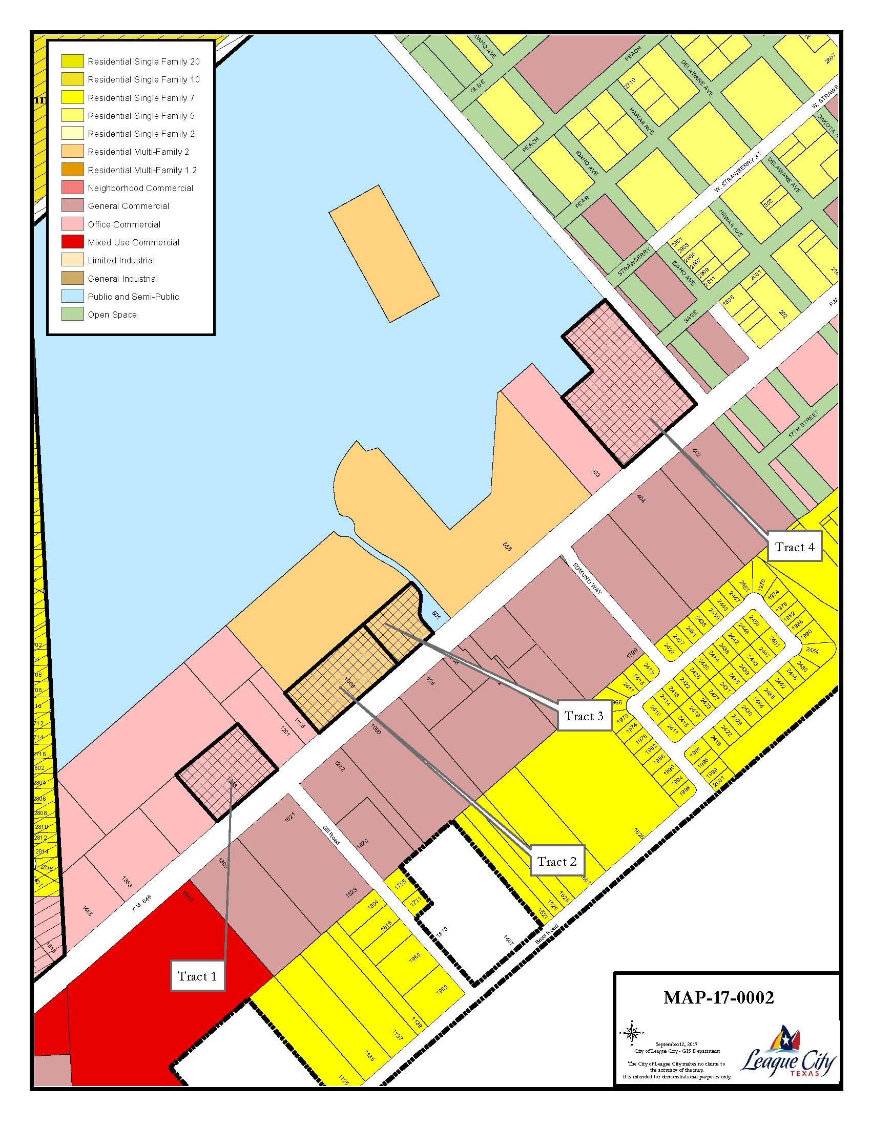 Map of Zoning of Wilson Properties