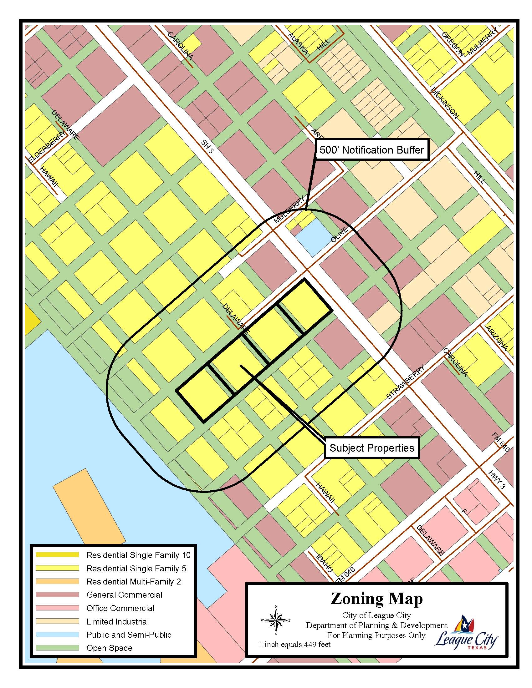 Z14-04 (Alta Vista Development) Zoning Map