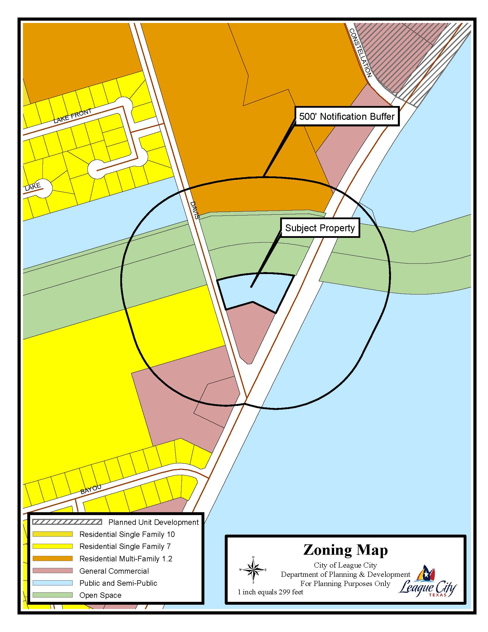 Davis Road and FM 2094 Tract Zoning Map