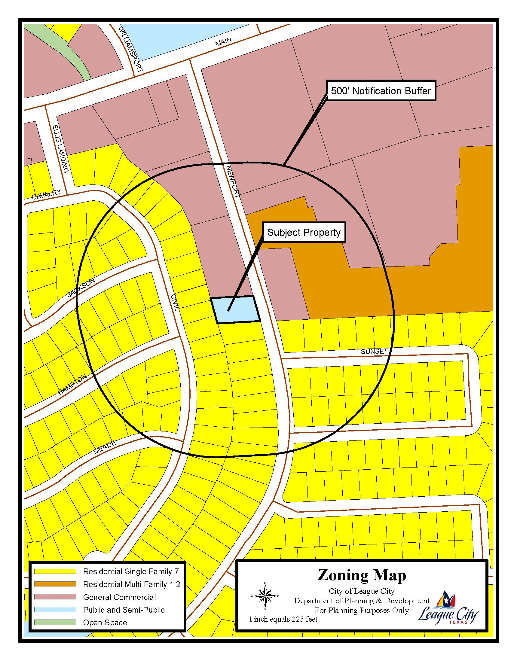 355 Newport Boulevard Zoning Map