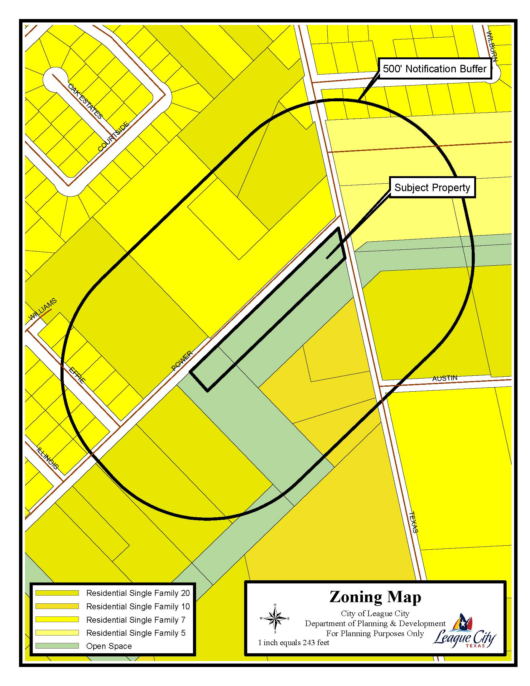 Power Street and Texas Avenue Tract Zoning Map-Reconfiguration