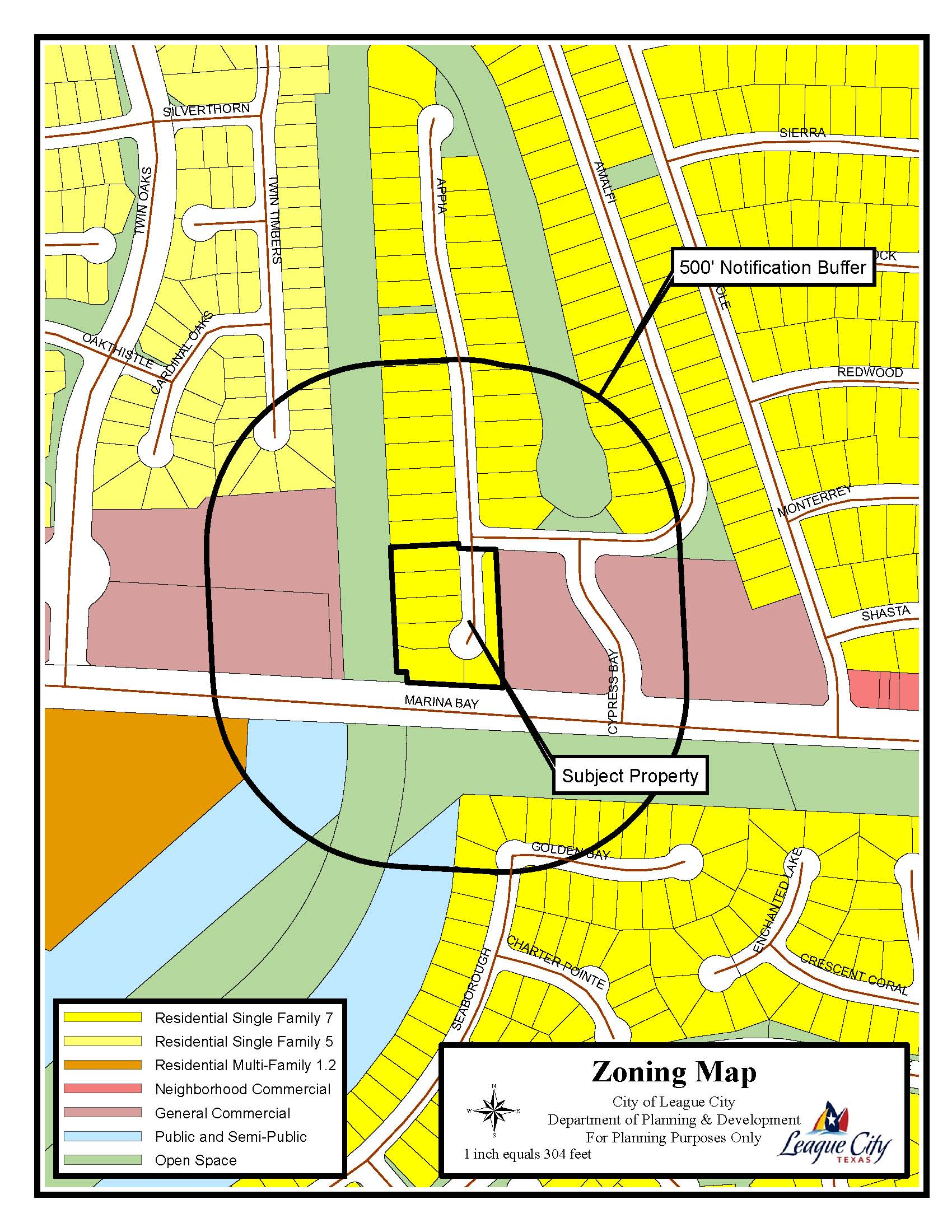 Z15-13 (Cypress Bay Commercial) zoning map