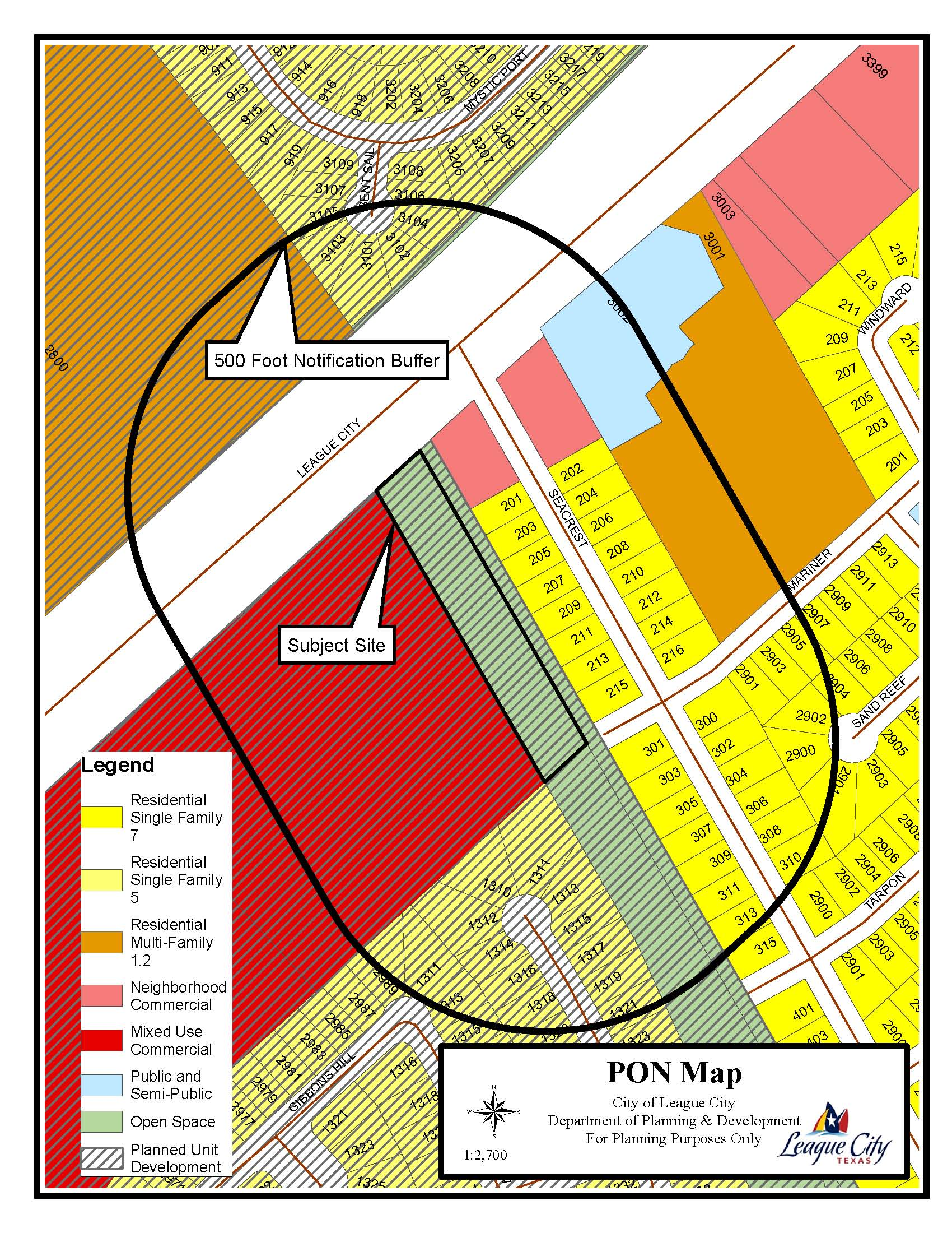Z15-15 (Parkland Commons) Zoning Map