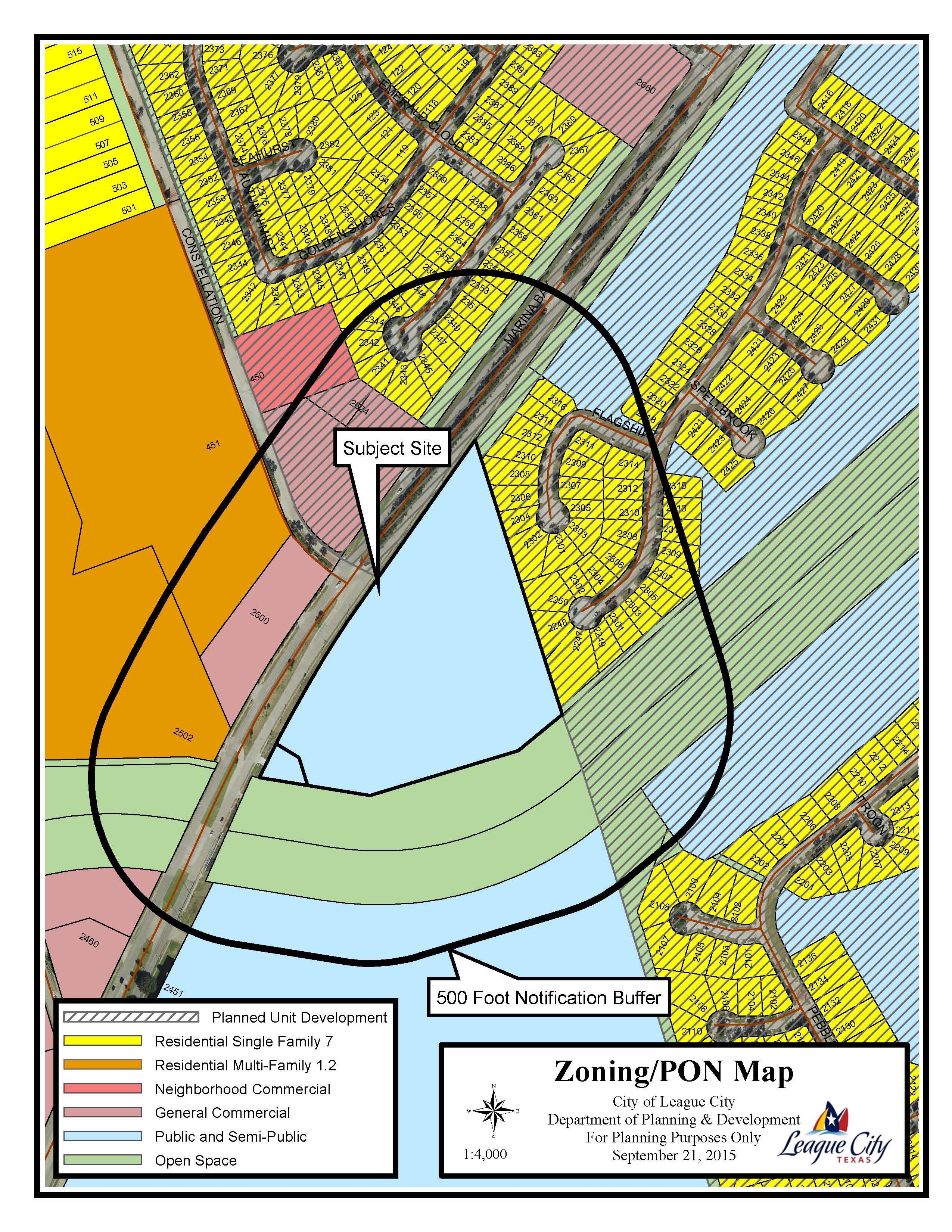Z15-14 (Delaney at South Shore Harbour) Zoning Map