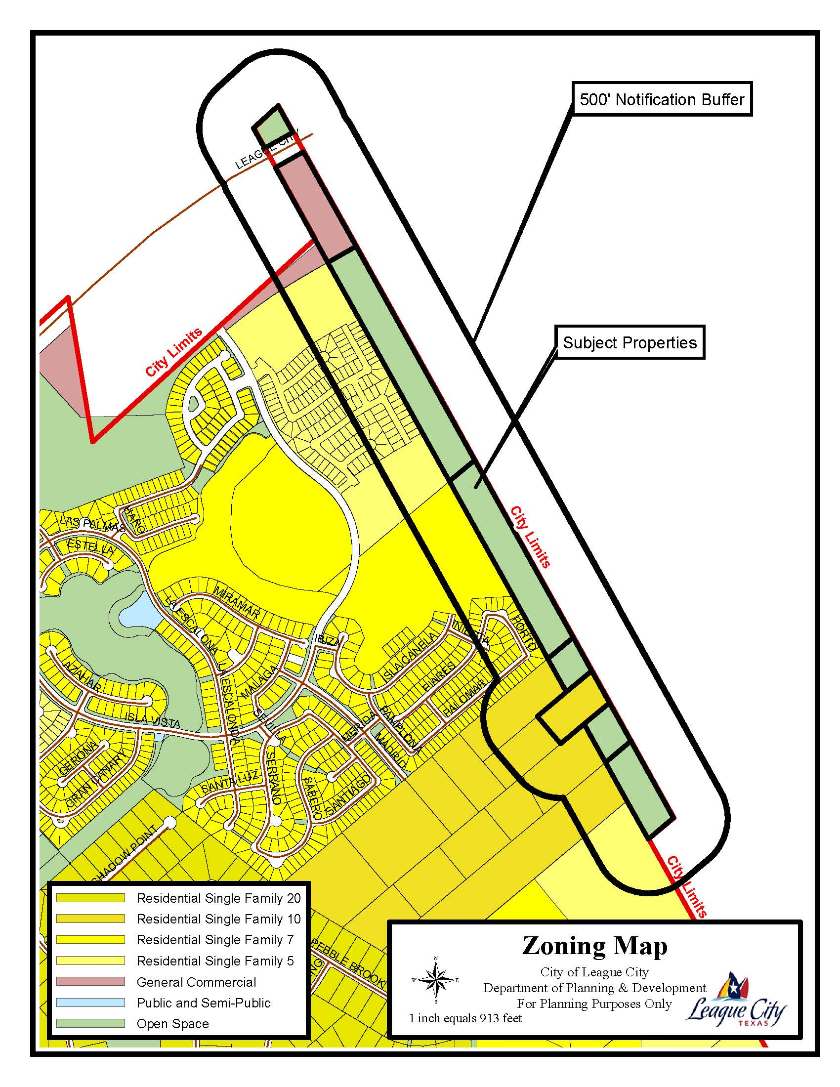 SUP15-05 (Dow Hydrocarbons and Resources Pipeline) zoning map