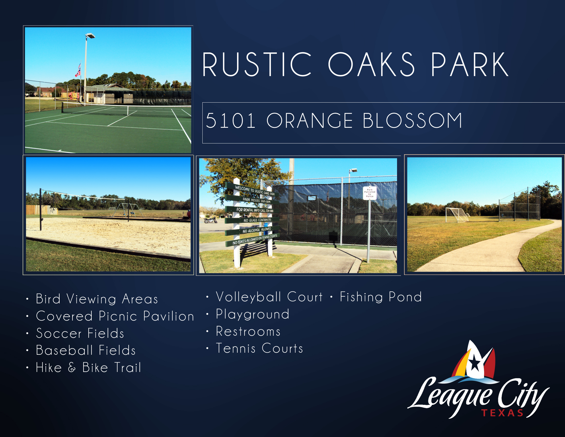 Rustic Oaks Park Flyer