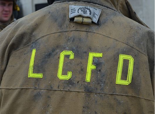 Back of Firefighters jacket