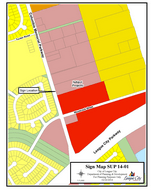 Zoning map of SUP14-01 AT&T