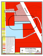 Zoning map of Z14-01