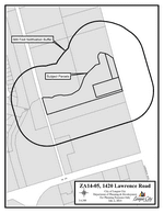 Zoning map of Z14-05 Lawrence Road