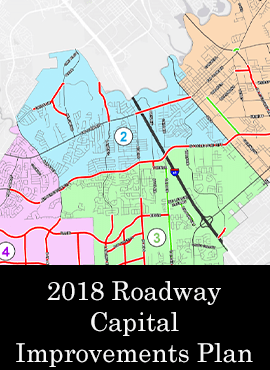 2018 Roadway Capital Improvements Plan Map
