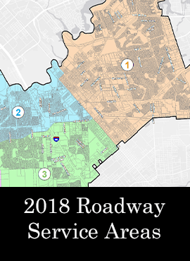 2018 Roadway Service Areas Map