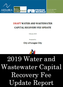 2019 Water and Wastewater Capital Recovery Fee Update Report Graphic