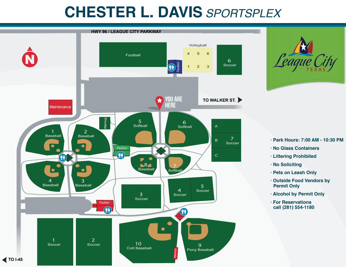 Chester L. Davis Sportsplex Map