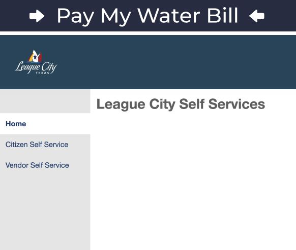 Pay My Water Bill Sign-In Graphic