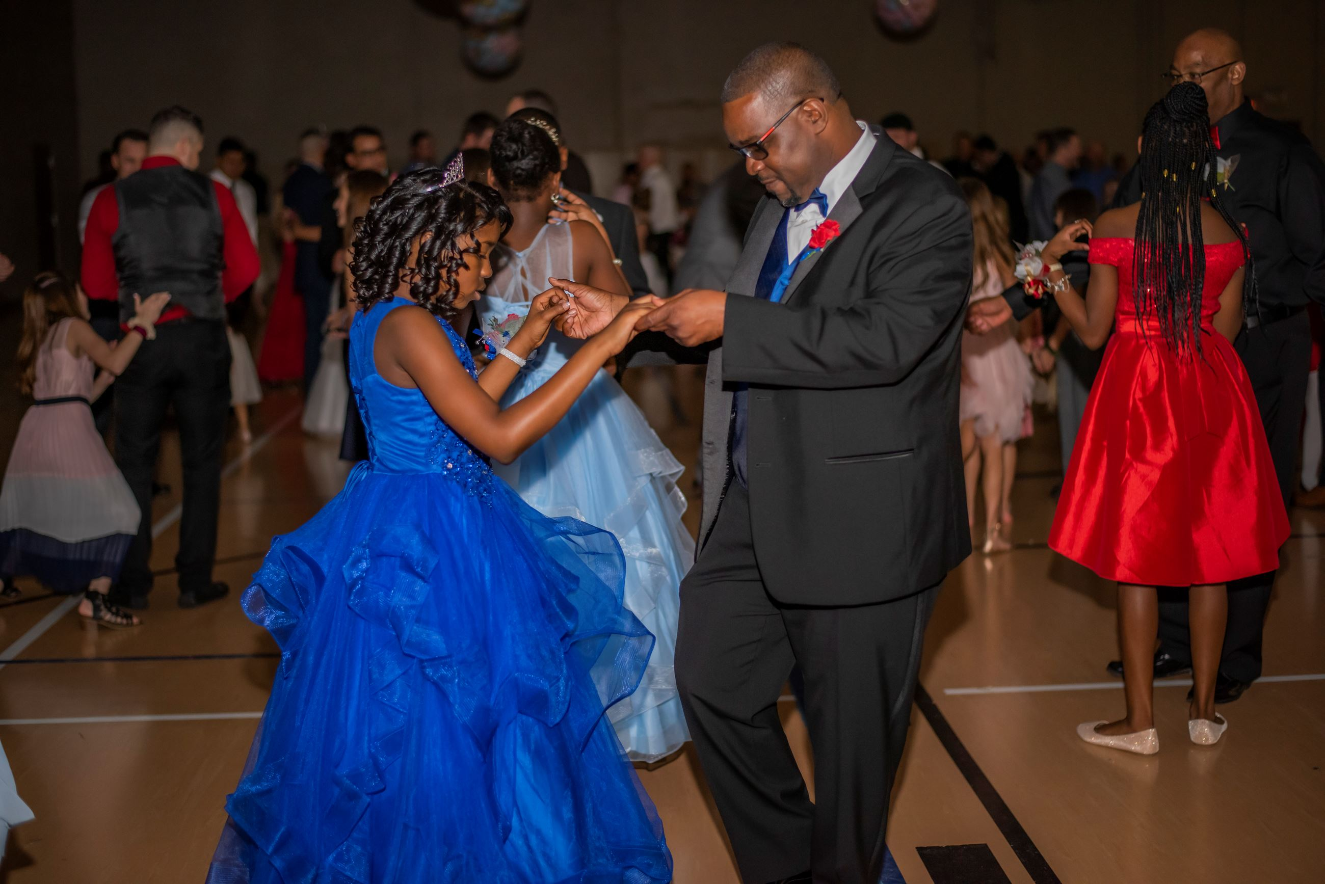 an indoor daddy daughter dance