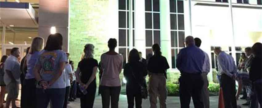 Candlelight vigil for domestic violence awareness month