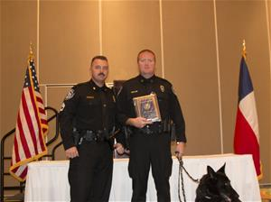 Officer Jason Jones receives officer of the year award