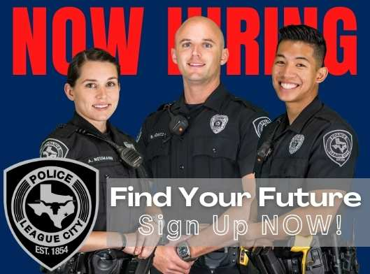 Find Your Future with officers in uniform