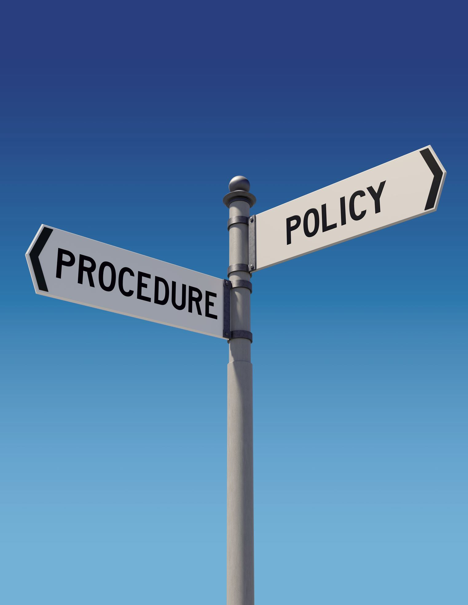 Policy and Procedure Street Signs