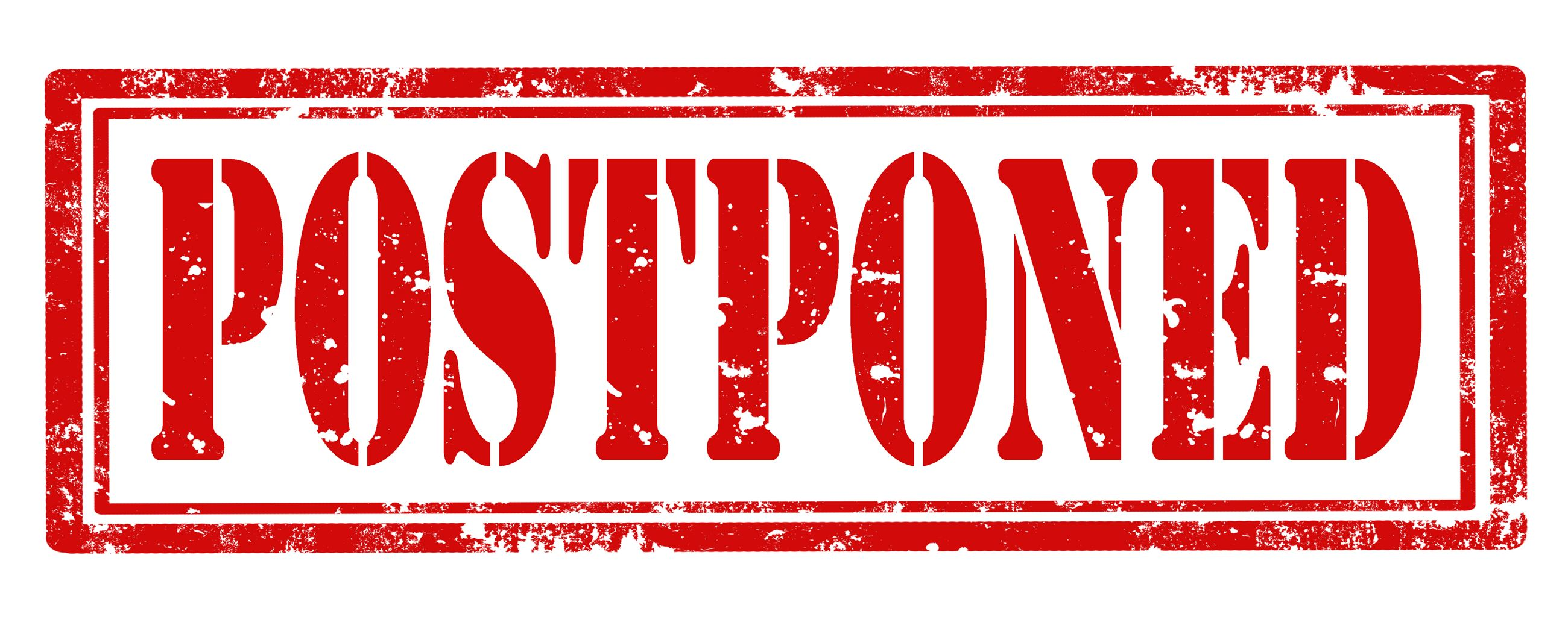 postponed (picture of the word postponed)