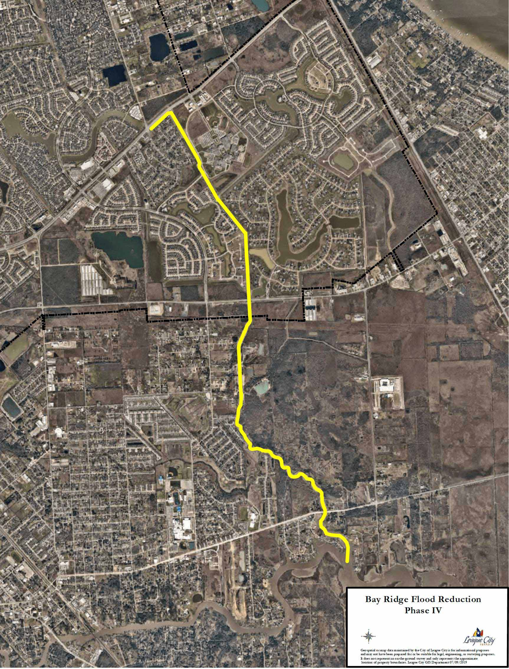 Bay Ridge Flood Reduction Phase IV aerial map