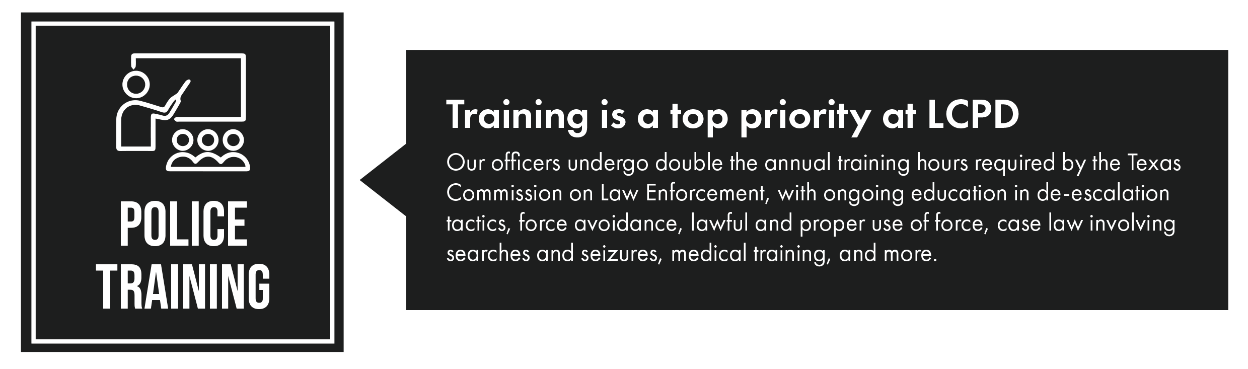 Police training infographic