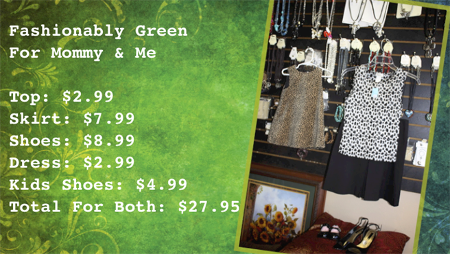 Photo of fashionably green for mommy and me.