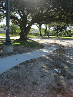 Photo of sidewalk project