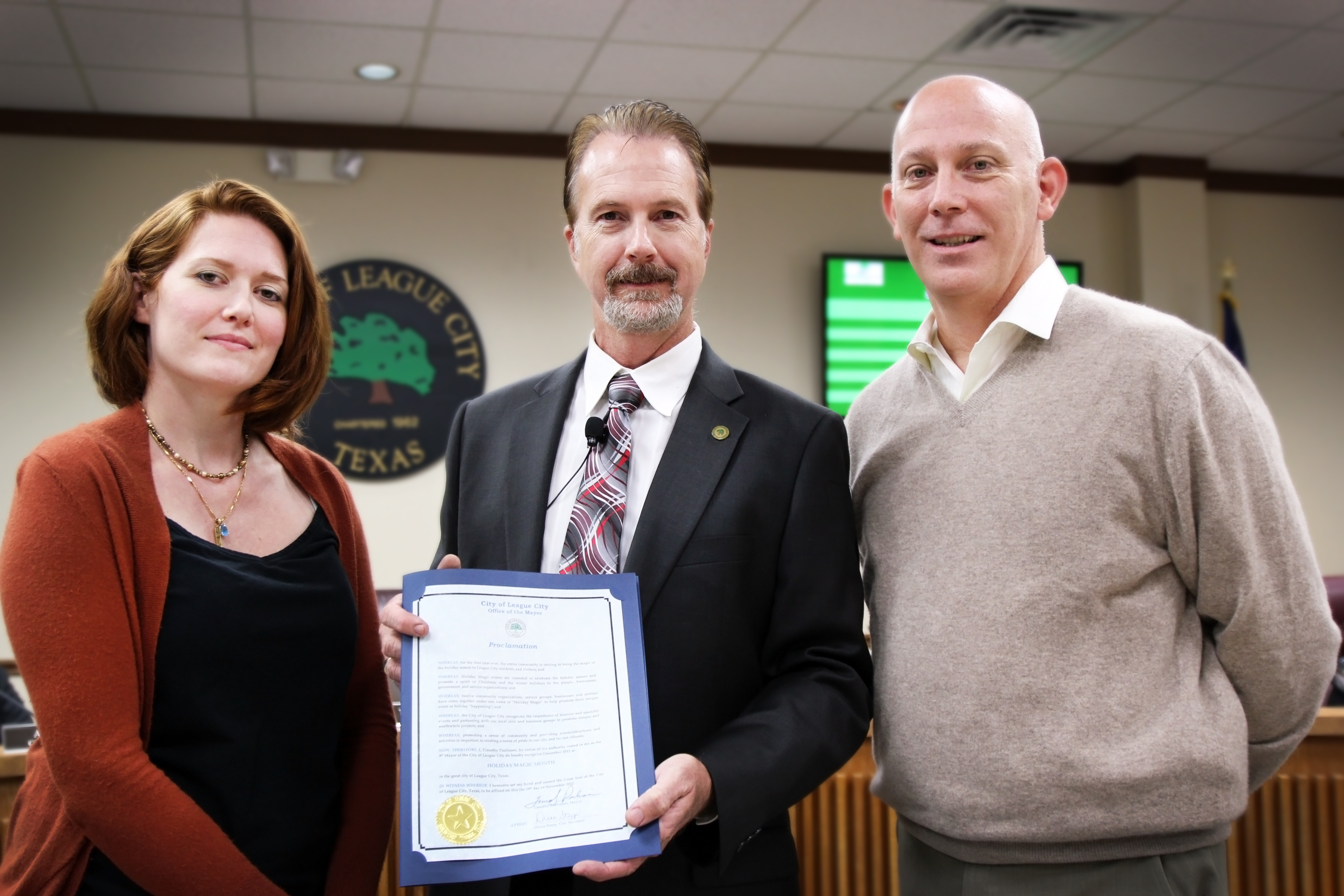 Photo of Holiday Magic Month proclamation