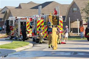 Fire Fighters Responding to a House Call